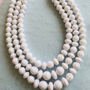 New White Bead Necklace from SUGARFIX
